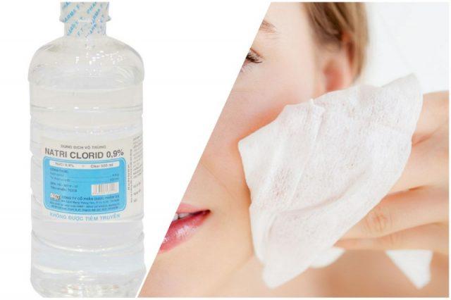 Review rửa mặt bằng nước muối sinh lý