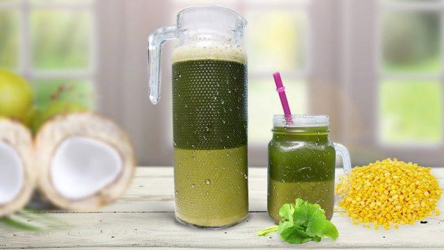 Đậu xanh kết hợp với rau má