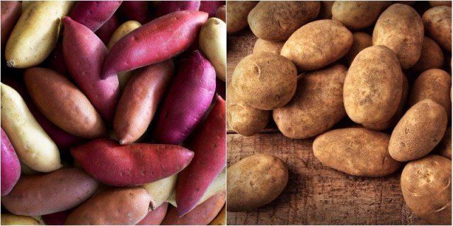 Ăn khoai lang thay khoai tây