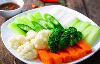 1 đĩa rau củ luộc