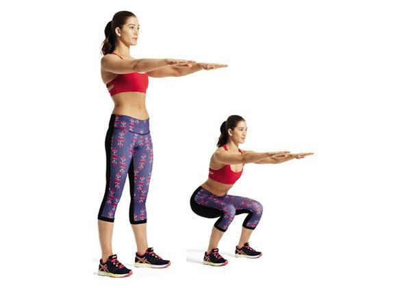 Tập thể dục buổi sáng giảm cân với bài tập squat