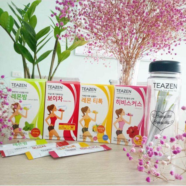 Cách sử dụng trà giảm cân teazen Hàn Quốc - giam-can - Shop bán mỹ phẩm