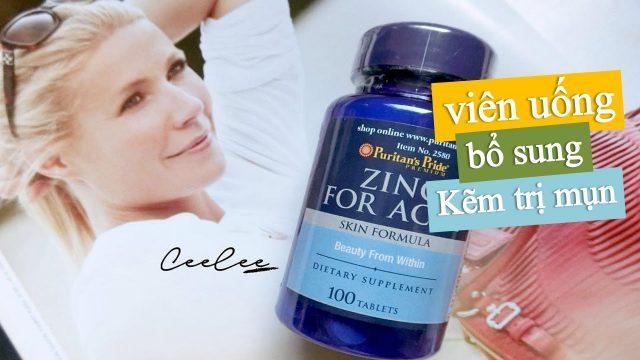 Review Viên uống kẽm trị mụn zinc for acne